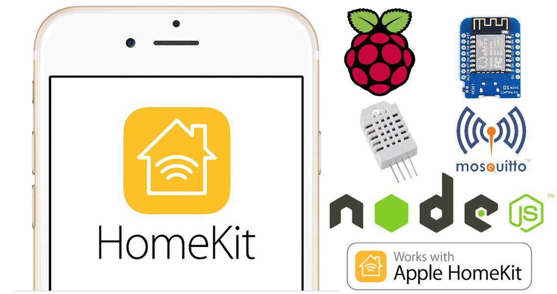 Controlliamo un sensore di Temperatura e Umidità da Apple Homekit con HAP-NodeJS su Raspberry Pi e Wemos D1 mini via MQTT