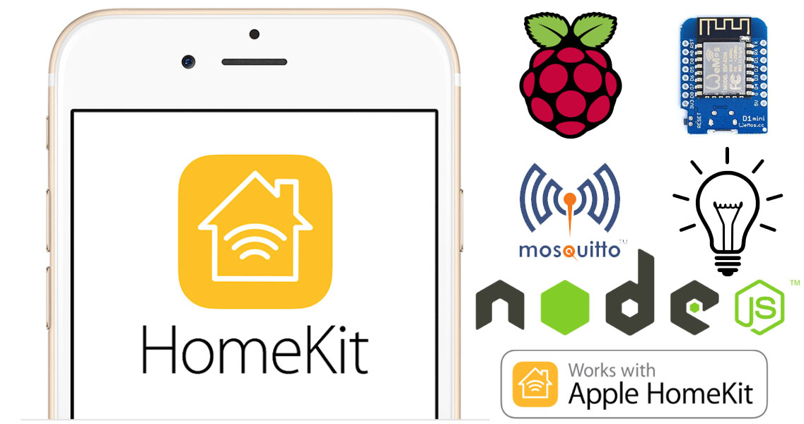 Controlliamo una lampadina da Apple Homekit con HAP-NodeJS su Raspberry Pi e Wemos D1 mini via MQTT