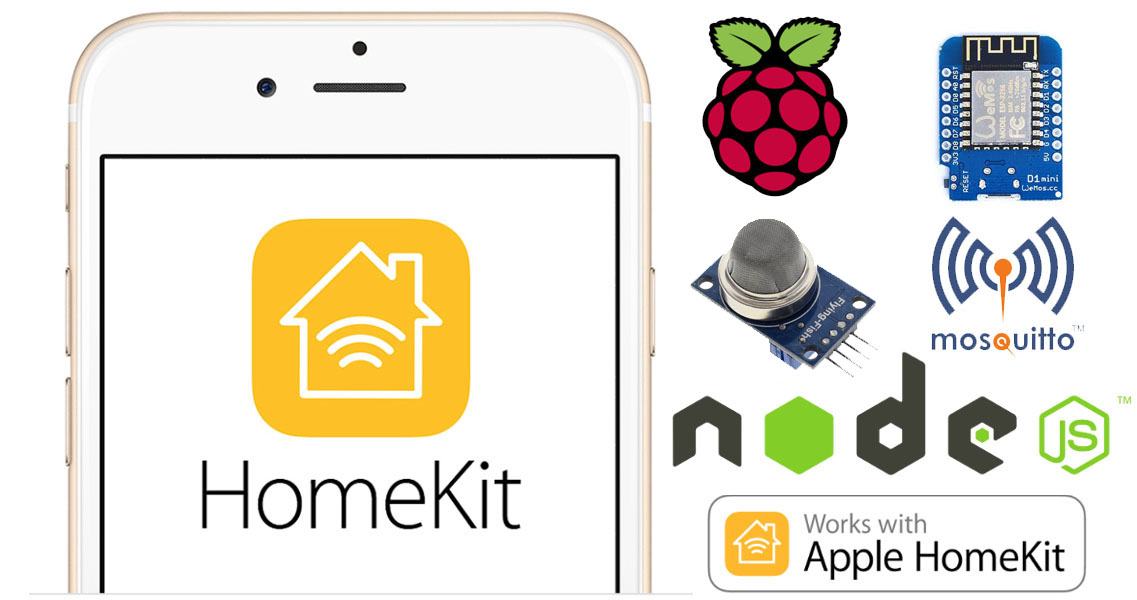 Controlliamo un sensore di Gas/Fumo da Apple Homekit con HAP-NodeJS su Raspberry Pi e Wemos D1 mini via MQTT