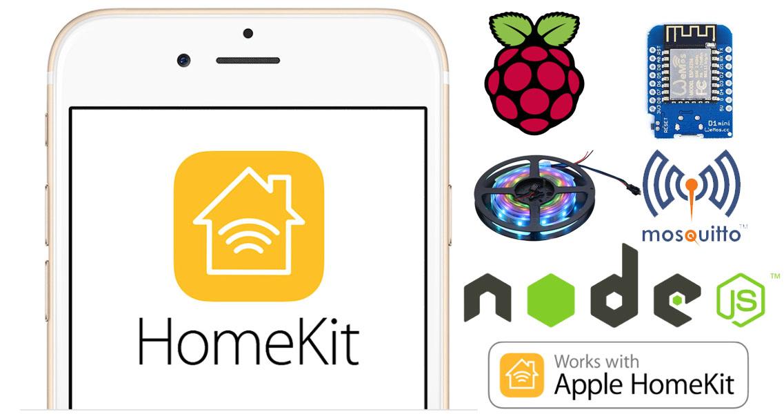 Controlliamo una Led Strip RGB da Apple Homekit con HAP-NodeJS su Raspberry Pi e Wemos D1 mini via MQTT