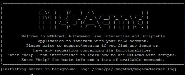 Installazione e utilizzo di Megacmd su Raspberry Pi